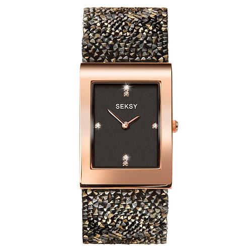 Seksy 2653 Rocks® Rose Gold Plated Bracelet Watch 2901812