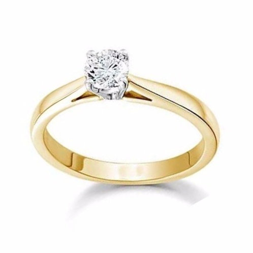0.25ct Solitaire 18kt Yellow Gold 0101012