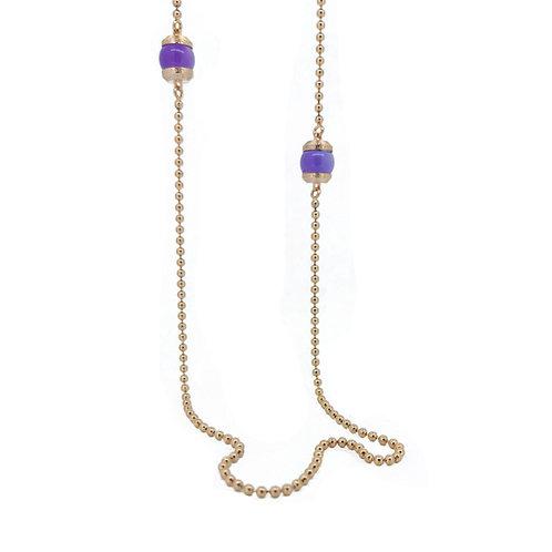 Rebecca BBCKRA04 Amethst Rose plate necklace 8804208