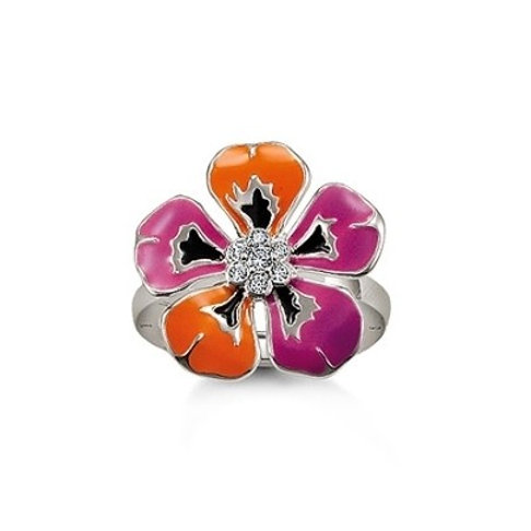 Thomas Sabo TR1853-041-13 CZ Sterling Silver Small Flower Ring 3303155