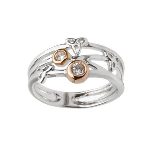 Trinity Knot sterling silver ring 1403591