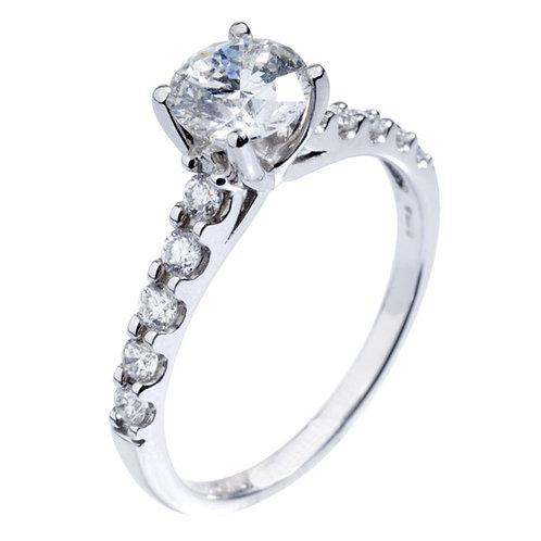 1.00ct Diamond 18kt White Engagement Ring 0101168