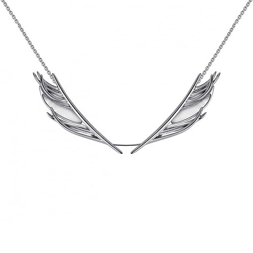 Mother of pearlfeather Necklacecrafted in sterling silver 1407384