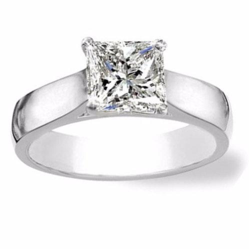 1.06ct D Colour Platinum Solitaire Diamond Engagement Ring 0101135