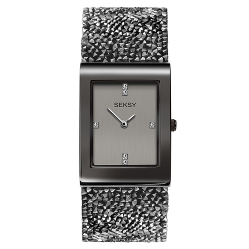 Seksy 2654 Rocks® Gun Metal Plated Bracelet Watch 2901813