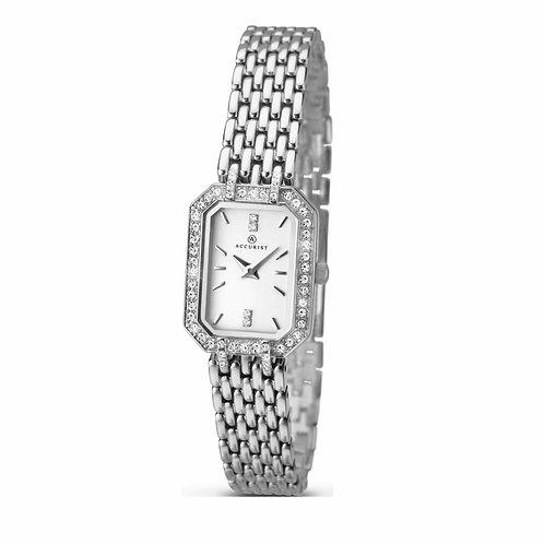 Accurist 8061 Ladies Silver Tone Quartz Watch 2701031