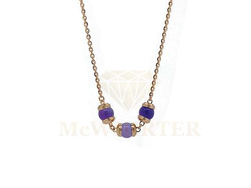 Rebecca BHCKRA06 Amethst Rose plate necklace 8804219