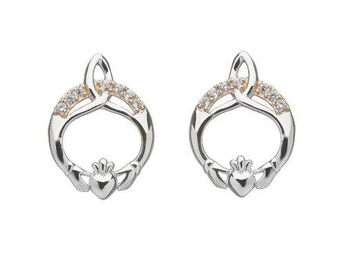 Claddagh sterling silver earrings 1422055