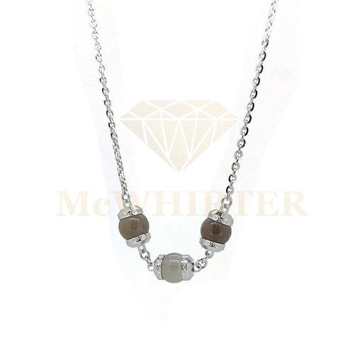 Rebecca BHCKBF06 smokey quarts silver plate necklace 8804213