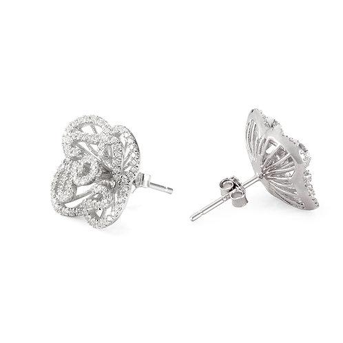 Cascade mini earrings in rhodium vermeil 4502006