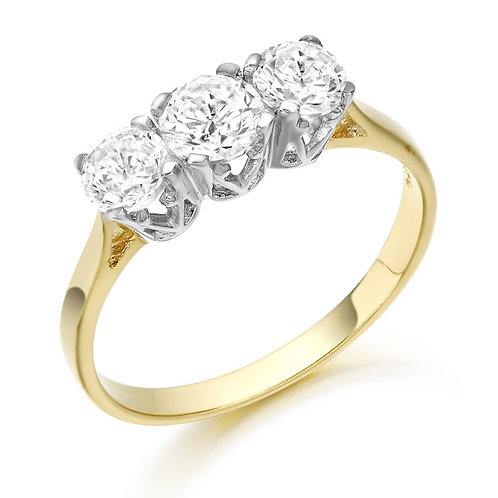 CZ Ring set in 9kt gold 0504219
