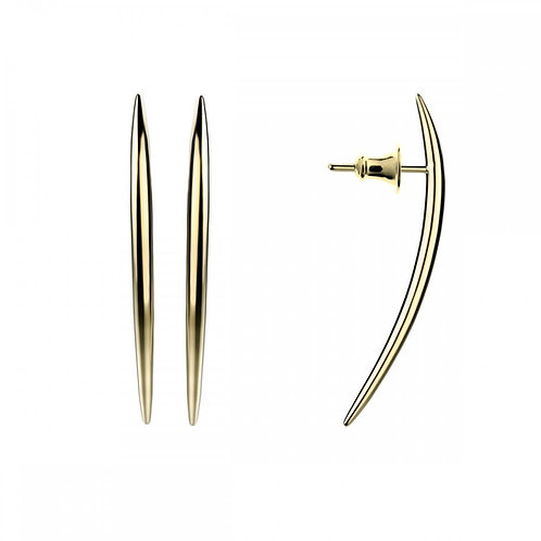 Quill gold vermeil earringscrafted in sterling silver 1422132