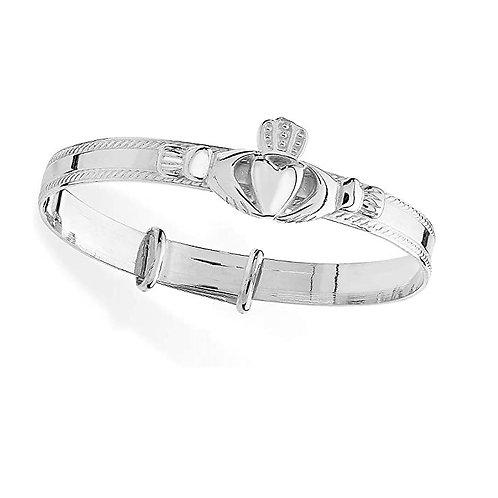 Sterling Silver Claddagh Baby Bangle SBA051A / 1414089