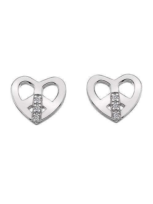 Hot Diamonds DE334 Sterling Silver Love and Peace Earrings 3002113