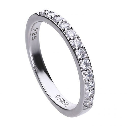 DIAMONFIRE ETERNITY BAND STERLING SILVER RING