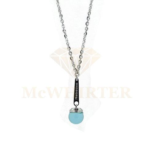 Rebecca BHCKBT05 blue stone silver plate necklace 8804214