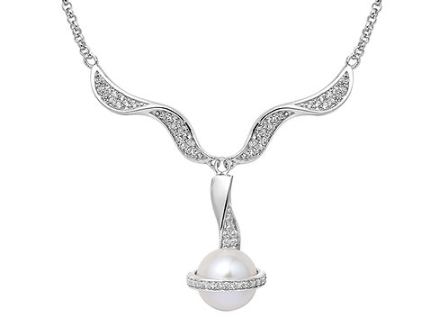 Pirouette pearl pendant with cubic zirconia 4501012