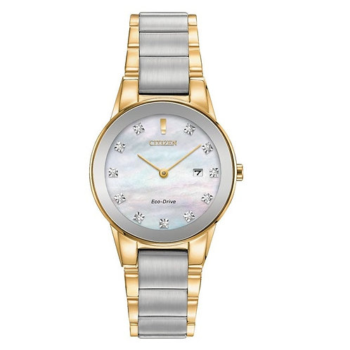 Citizen GA1054-50D Ladies Diamond Two Tone Eco-Drive Watch 2601125