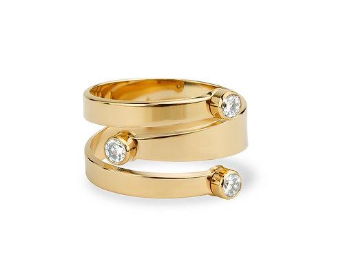 Mya-Bay DOUBLE SNAKE Ring BA-48