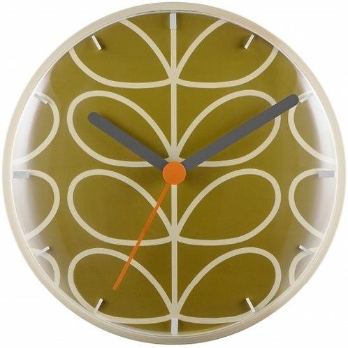 Orla Kiely Linear Stem Wall Clock Moss