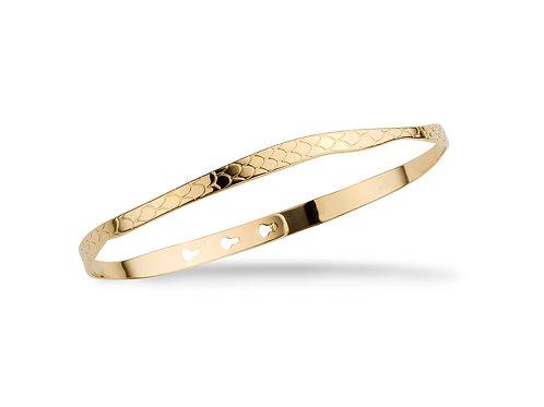 Mya-Bay PYTHON TEXTURE bracelet JC-57