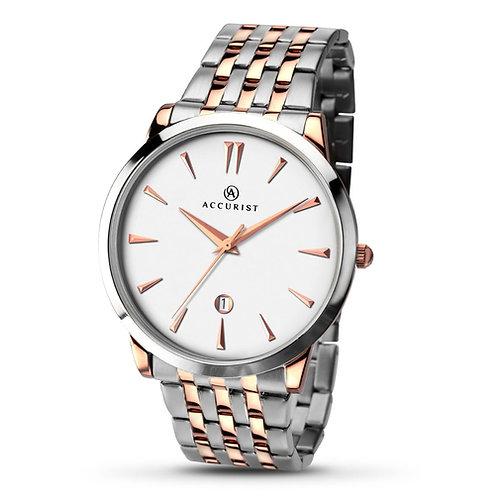 Accurist 7075 Gents Bracelet Two Tone Quartz Watch 2703018