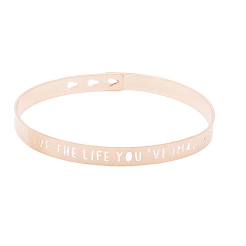 "Mya-Bay ""LIVE THE LIFE YOU'VE IMAGINED"" bracelet JL-14"