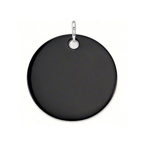 Thomas Sabo PE531-024-11 Sterling Silver Onyx Large Disc Pendant 3301482