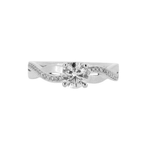 0.80ct F Colour Platinum Solitaire Diamond Engagement Ring 0101183