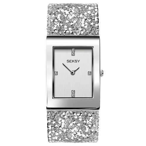 Seksy 2652 Rocks® Rhodium Plated Bracelet Watch 2901816