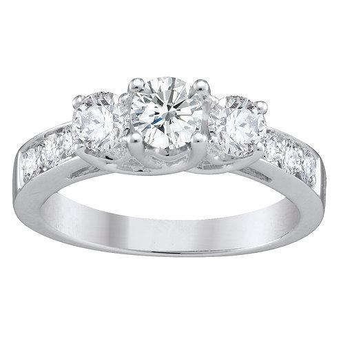 1.00ct Brilliant Cut 18kt Gold Diamond Engagement Ring 0103168
