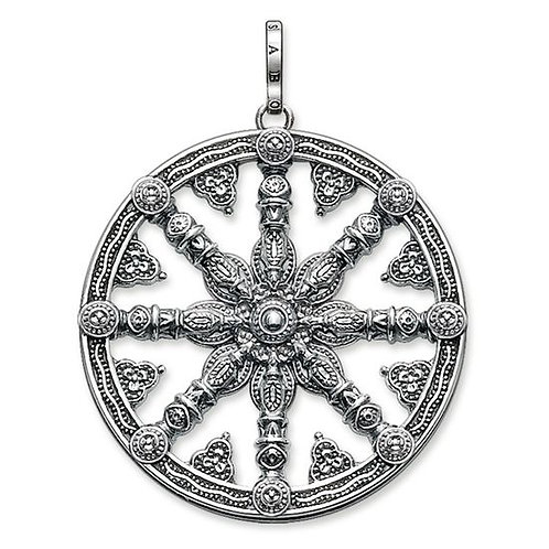 Thomas Sabo PE667-001-12 Sterling Silver Karma Wheel Pendant 3301525