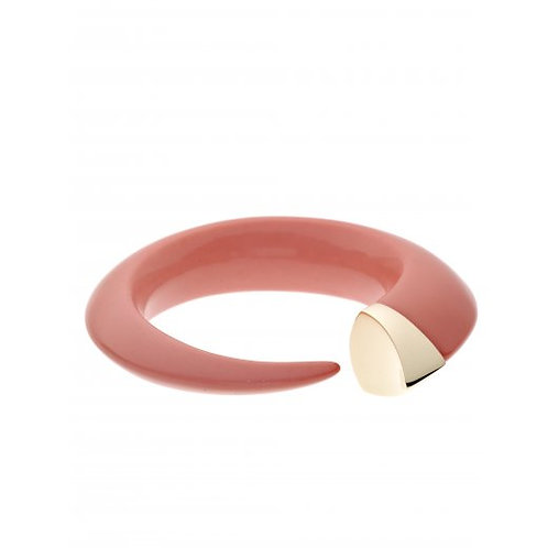 Pink CoralTuskBangle gold vermeil crafted in sterling silver
