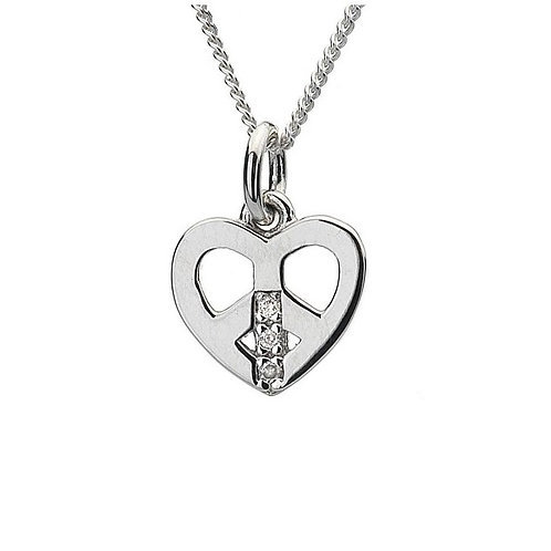 Hot Diamonds DP261 Sterling Silver Love and Peace Pendant 3001145