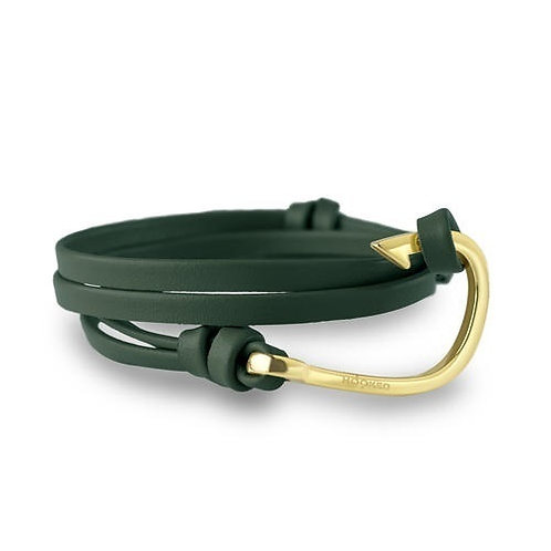 Hooked HGL5 gold - Green leather 3805147