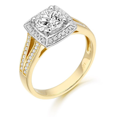 CZ Ring set in 9kt gold 0504213