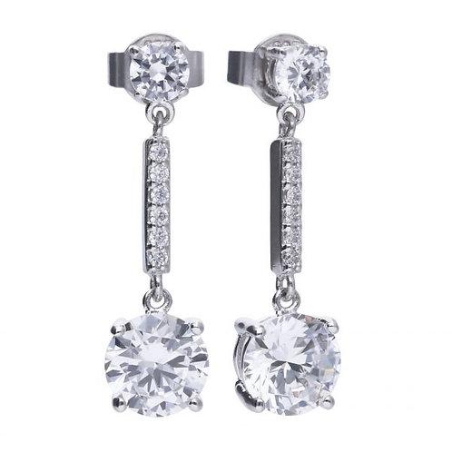 DIAMONFIRE DROP STONE STERLING SILVER EARRINGS