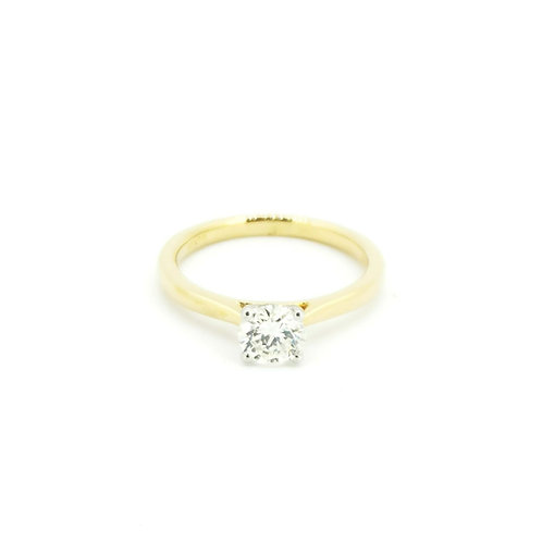 0.70ct Brilliant H Colour 18kt Yellow Gold Solitaire Diamond Engagement Ring
