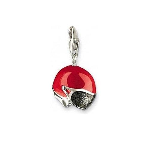 Thomas Sabo 0477 Red Enamel Helmet Silver Charm 3310477