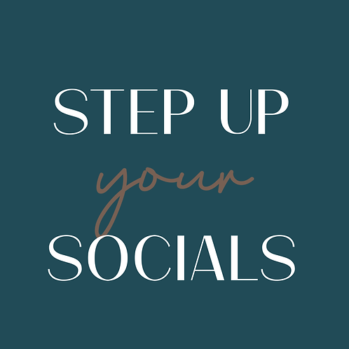 Step Up Your Socials