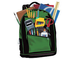 Backpack Filled with Supplies