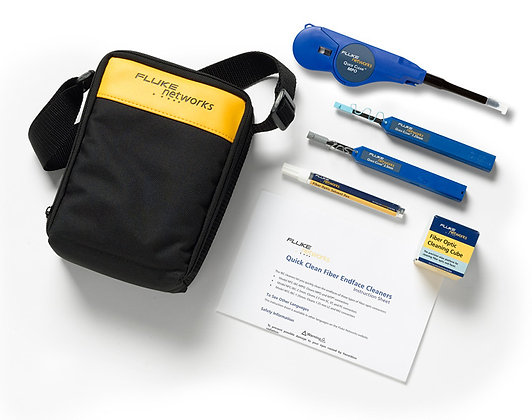 Fluke Networks Enhanced Fiber Optic Cleaning Kit w/One-click Cleaners