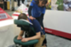 The Corporate Massage Compnay, massage at trade shows,