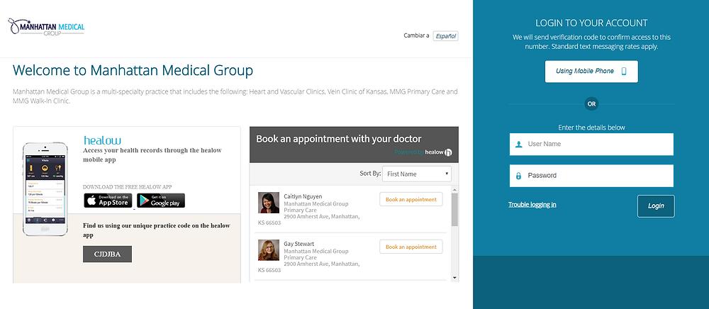 Patient web portal