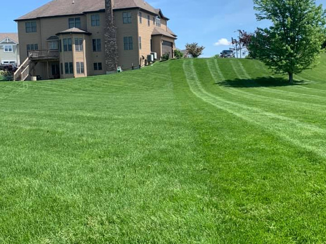 Mowing Lines Feilds of Farm House GreenT
