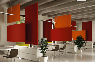 SUSPENDED ACOUSTIC PANELS & ROOM DIVIDERS