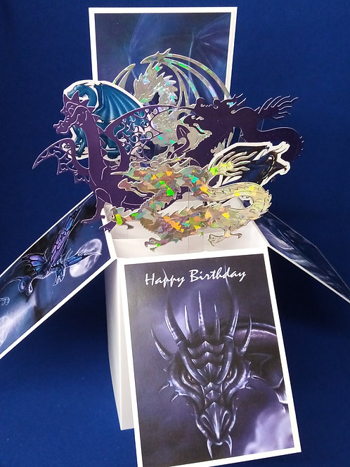 Birthday Card with Dragons
