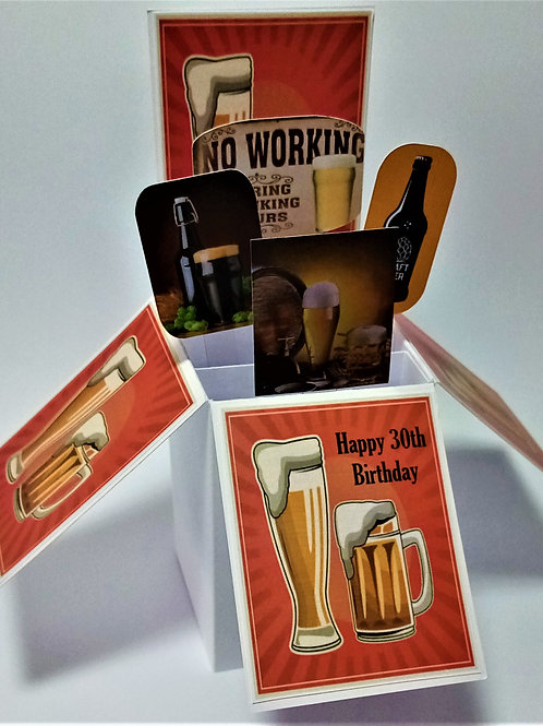 Men's 30th Birthday Card with Beer