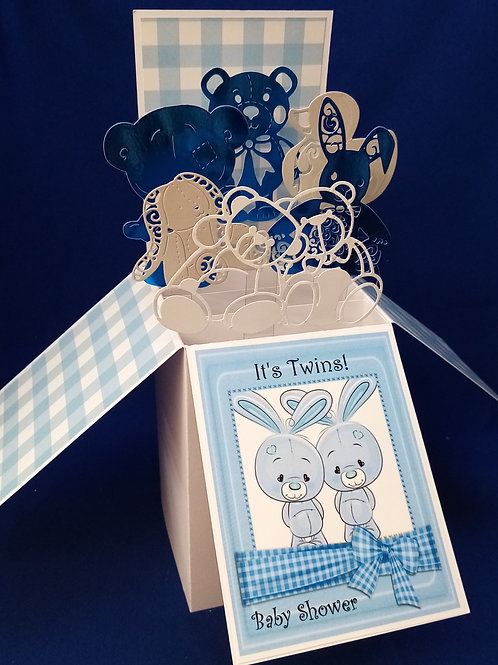 Baby Shower Card for Twin Girls