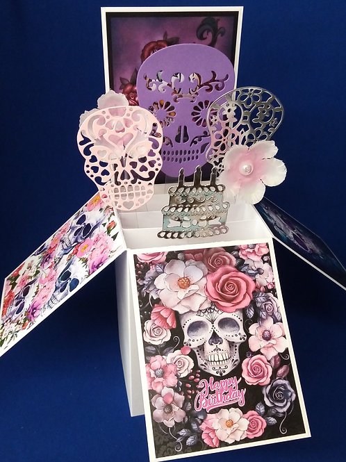 Ladies Birthday Card with Sculls